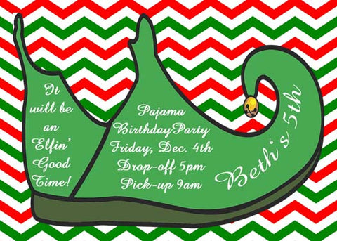 ELF SHOE CUSTOM INVITATION