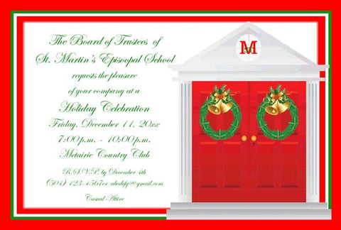 CHRISTMAS FRONT DOORS CUSTOM INVITATION