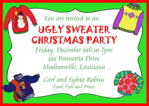 UGLY SWEATERS CUSTOM INVITATION