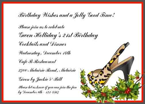 LEOPARD STILETTO CUSTOM INVITATION