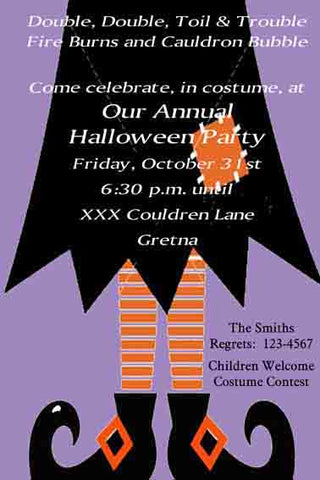 WITCH LEGS CUSTOM INVITATION