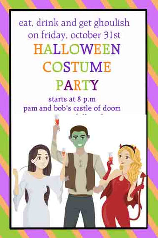 ADULTS IN COSTUMES CUSTOM INVITATION