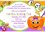 HAPPY PUMPKIN GIRL OR BOY CUSTOM INVITATION
