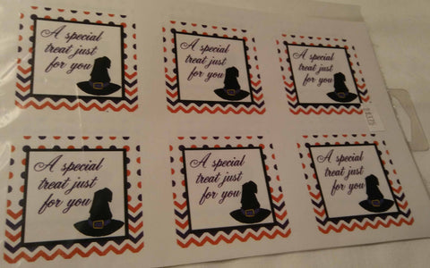 WITCH HAT GIFT TAG
