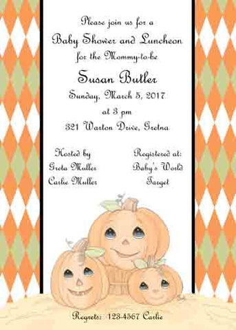 FALL PUMPKIN FAMILY CUSTOM INVITATIONS
