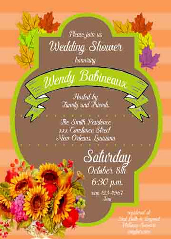 FLOWER ARRANGEMENT CUSTOM INVITATION