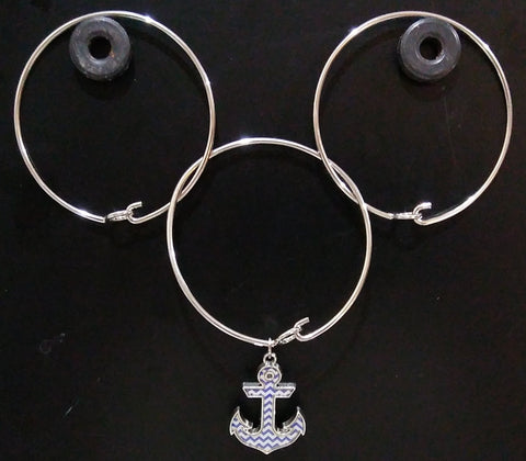3 RING ANCHOR BRACELET