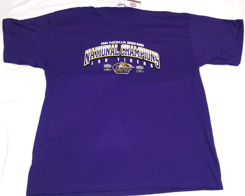 LSU 2004 NATIONAL CHAMP XL SHIRT