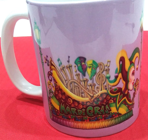 MARDI GRAS PARADE FLOAT MUG
