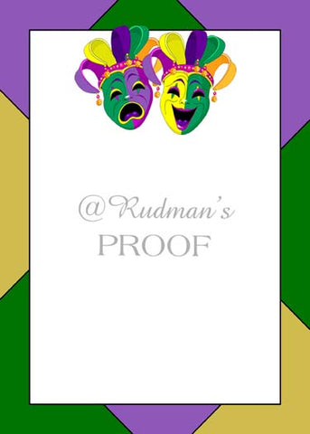 COMEDY AND TRAGEDY CUSTOM INVITATION