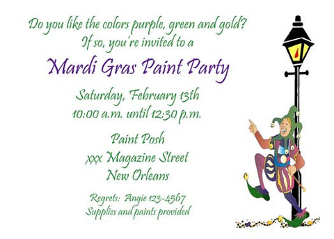 JESTER AND LAMPPOST CUSTOM INVITATION