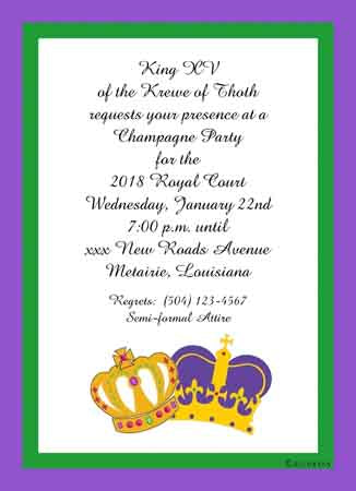 CROWNS CUSTOM INVITATION