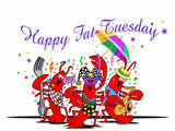 HAPPY FAT TUESDAY GREETING CARD