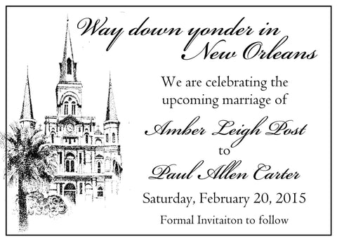 ST. LOUIS CATHEDRAL OUTLINE CUSTOM INVITATION