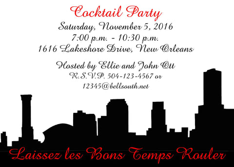SKYLINE SILHOUETTE CUSTOM INVITATION