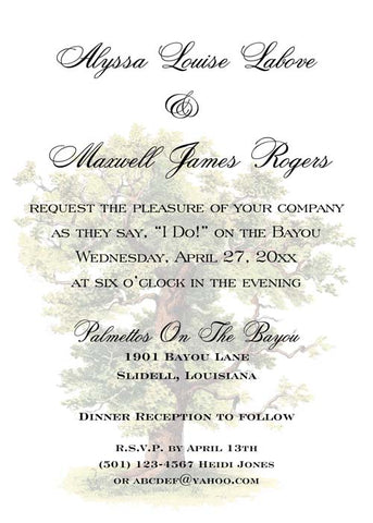 FULL OAK TREE CUSTOM INVITATION