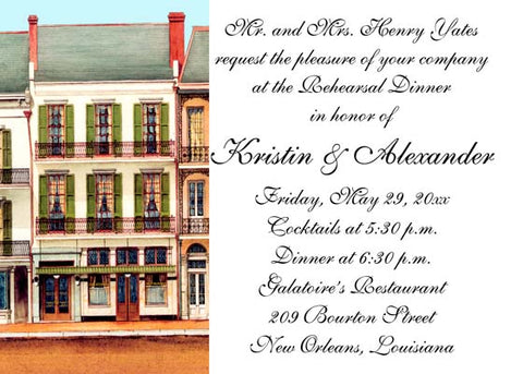 GALATOIRE'S RESTAURANT CUSTOM INVITATION