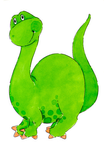 DASHING DINOSAUR DIE CUT - BLANK STOCK INVITATION