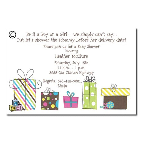 ABC BLOCKS AND GIFTS - BLANK STOCK INVITATION