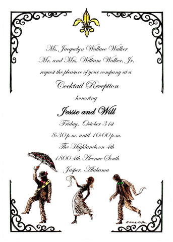 SECOND LINE DANCE - BLANK STOCK INVITATION