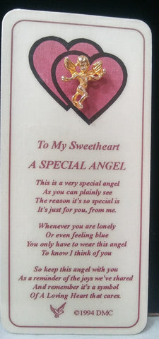 SWEETHEART ANGEL PIN & BOOKMARK