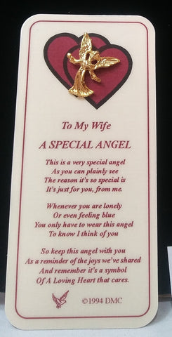 WIFE SPECIAL ANGEL PIN & BOOKMARK