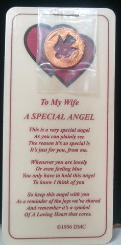 WIFE ANGEL COIN & BOOKMARK