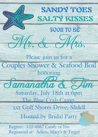 PLANKS AND SHELLS CUSTOM INVITATION