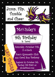 LOCKER CHEERLEADER OUTFIT CUSTOM INVITATION
