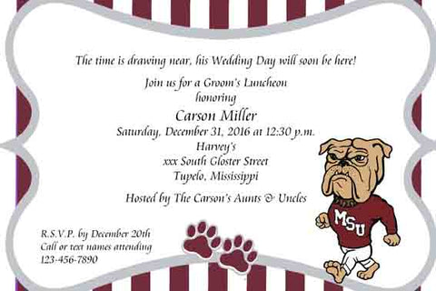MISSISSIPPI BULLDOG CUSTOM INVITATION