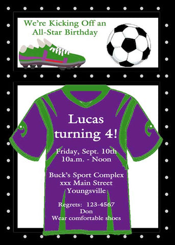SOCCER LOCKER CUSTOM INVITATION