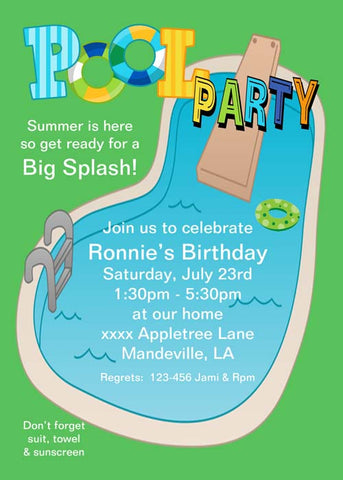 THE POOL CUSTOM INVITATION