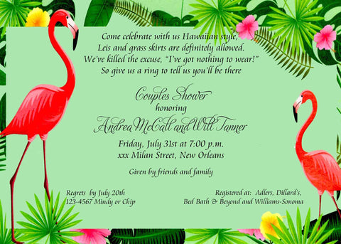 FLAMINGOS CUSTOM INVITATION