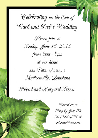 LARGE PALMS CUSTOM INVITATION