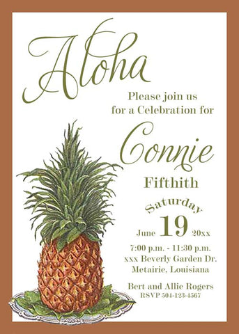 PINEAPPLE ON TRAY CUSTOM INVITATION