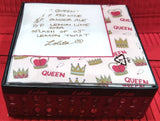 QUEEN DRINK RECIPE LOLITA BEVERAGE NAPKINS
