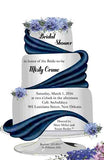 3 TIER CAKE WITH RIBBON CUSTOM INVITATION