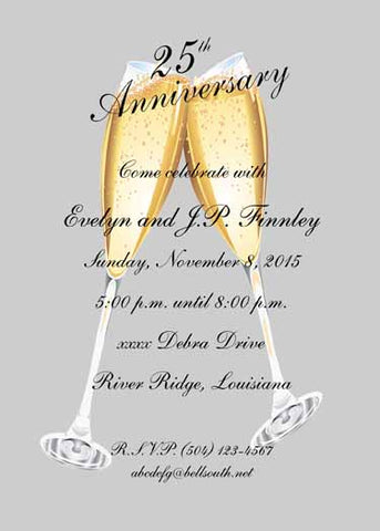 25TH ANNIVERSARY MOTIF CUSTOM INVITATION