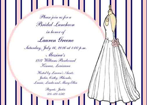 BRIDAL GOWN ON MANNEQUIN CUSTOM INVITATION