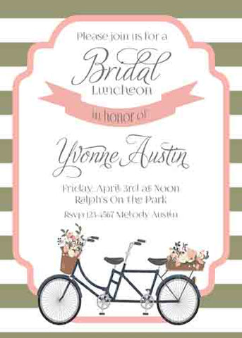 BIKE FOR 2 CUSTOM INVITATION