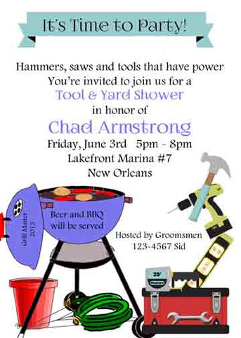 BBQ AND TOOLS CUSTOM INVITATION