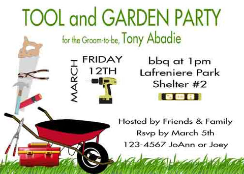 TOOL AND GARDEN CUSTOM INVITATION