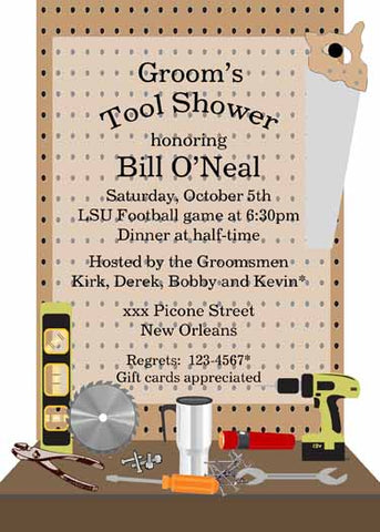 PEGBOARD WORKBENCH CUSTOM INVITATION