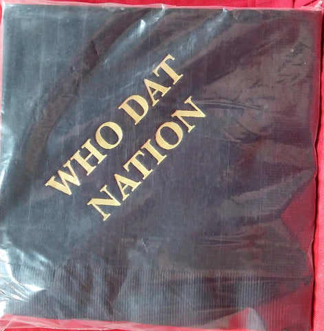 WHO DAT NATION PAPER LUNCHEON NAPKINS