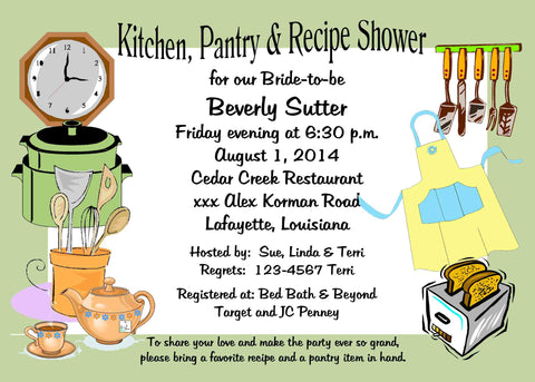 KITCHEN THINGS CUSTOM INVITATION