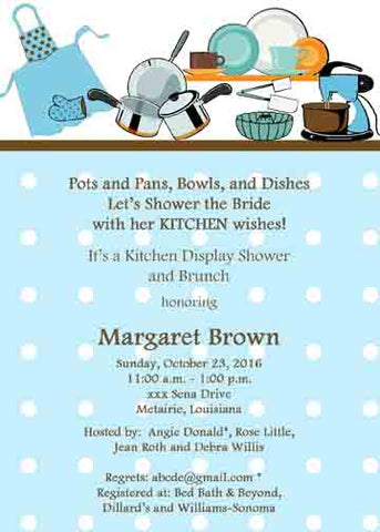 KITCHEN WISHES CUSTOM INVITATION
