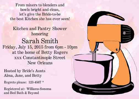 KITCHEN MIXER 2 CUSTOM INVITATION