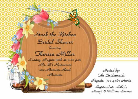 ROUND CUTTING BOARD CUSTOM INVITATION