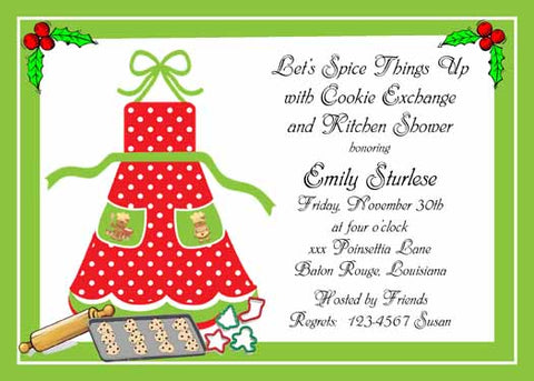 CHRISTMAS APRON CUSTOM INVITATION