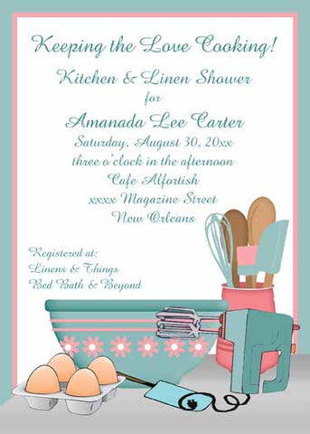 BAKING LOVE CUSTOM INVITATION